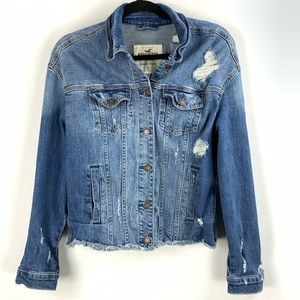 Hollister Destroyed Jean Jacket - Small